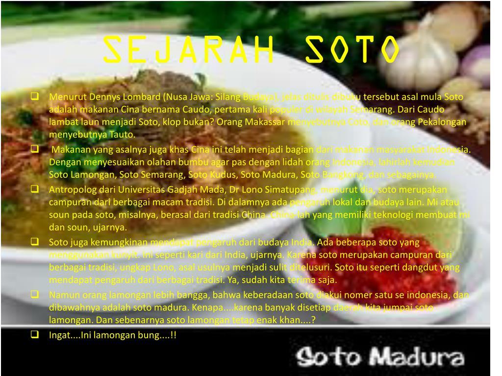 SEJARAH SOTO