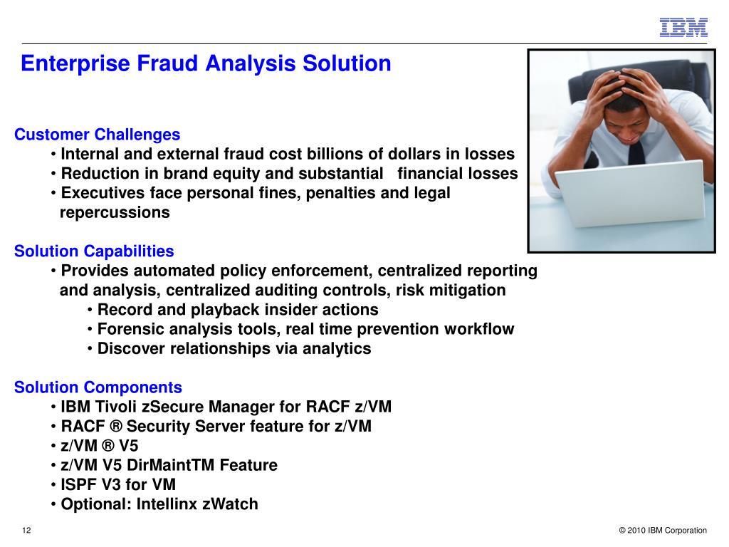 Enterprise Fraud Analysis Solution