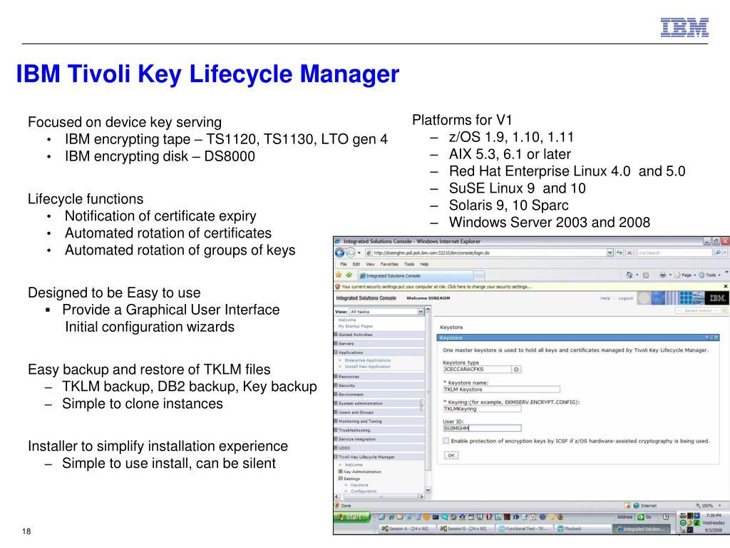 IBM Tivoli Key Lifecycle Manager