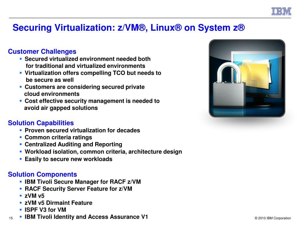 Securing Virtualization: z/VM®, Linux® on System z®