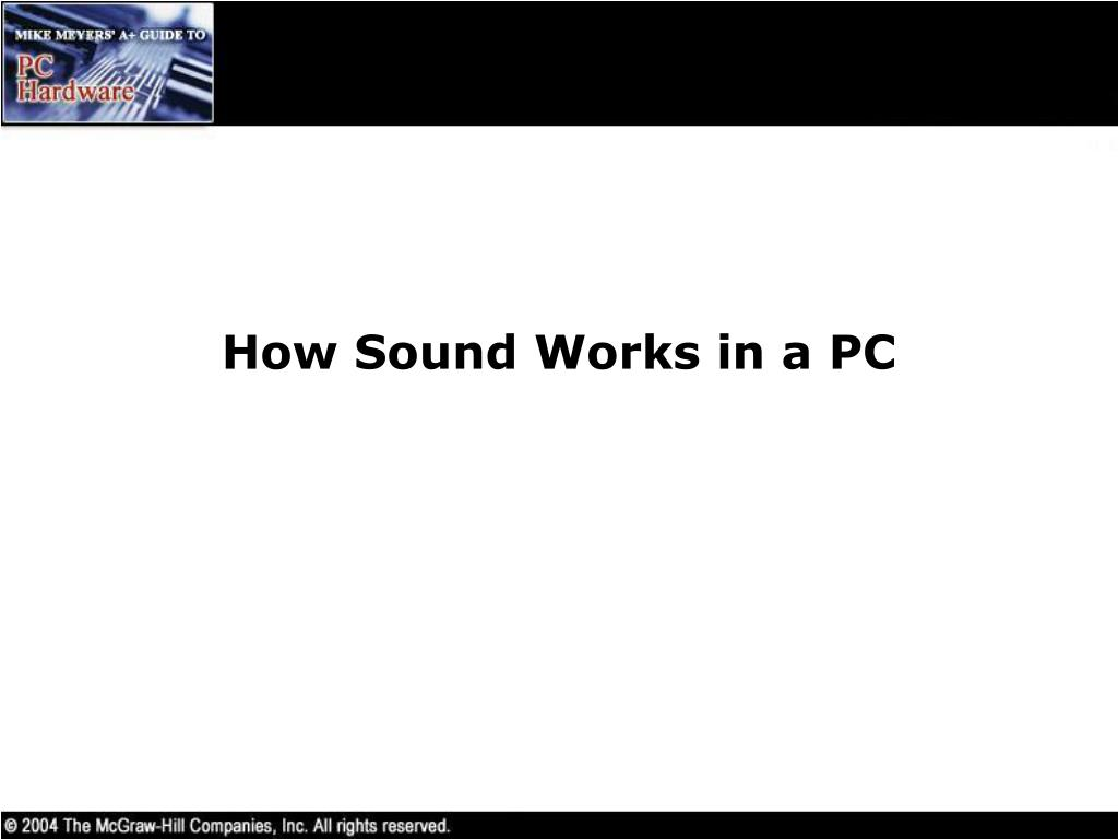 How Sound Works in a PC