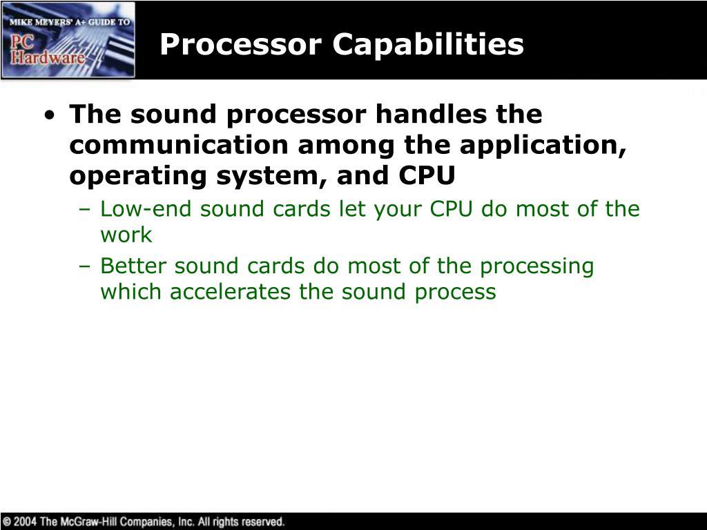 Processor Capabilities