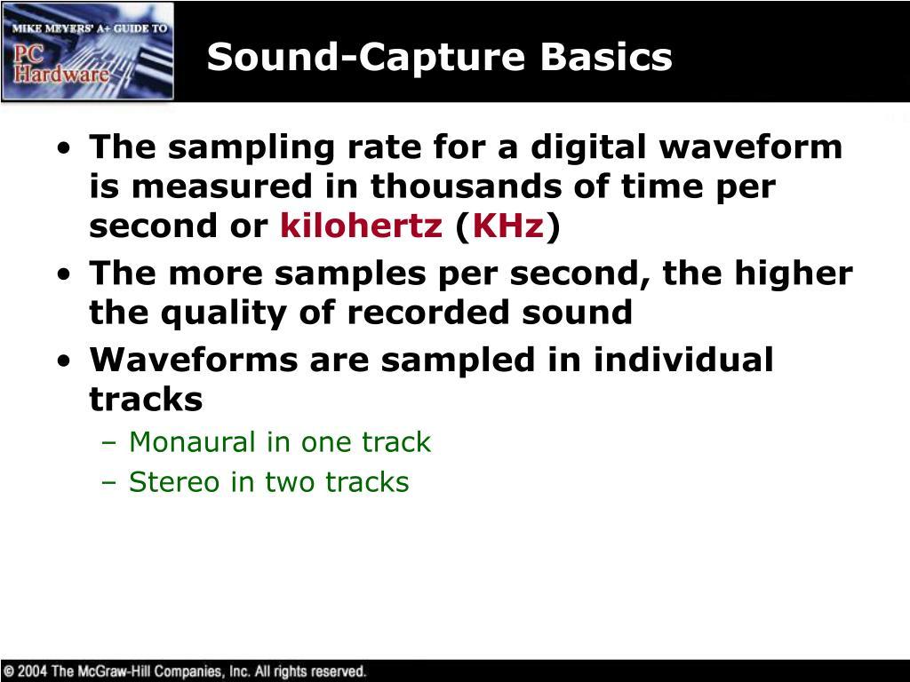 Sound-Capture Basics