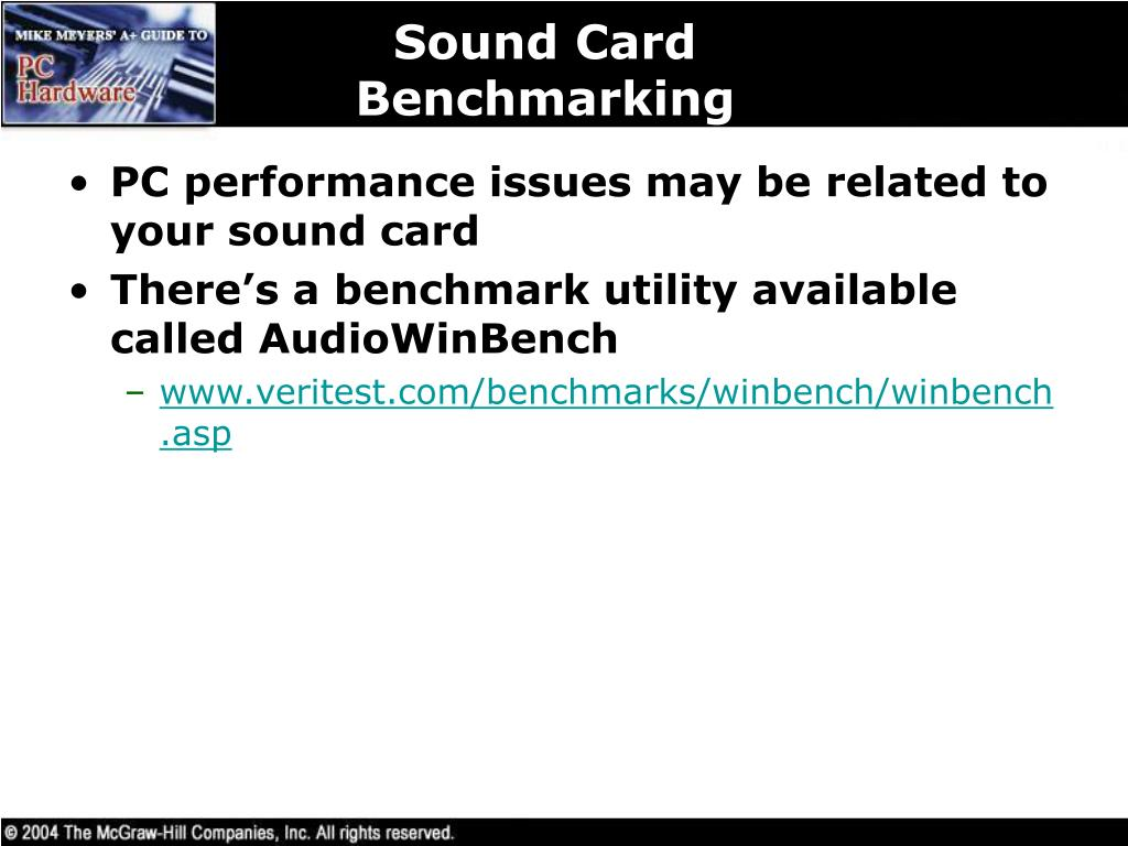 Sound Card Benchmarking