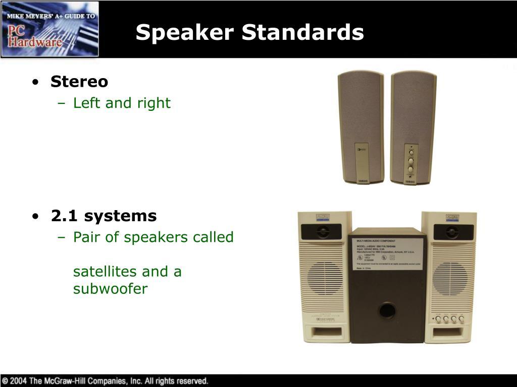 Speaker Standards