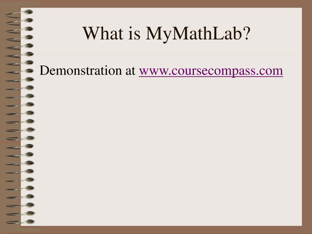 What is MyMathLab?