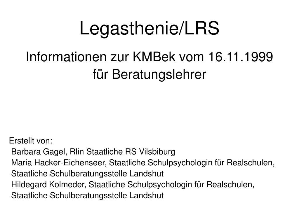 Legasthenie/LRS