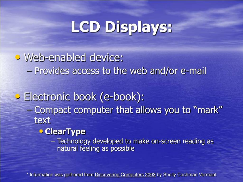 LCD Displays: