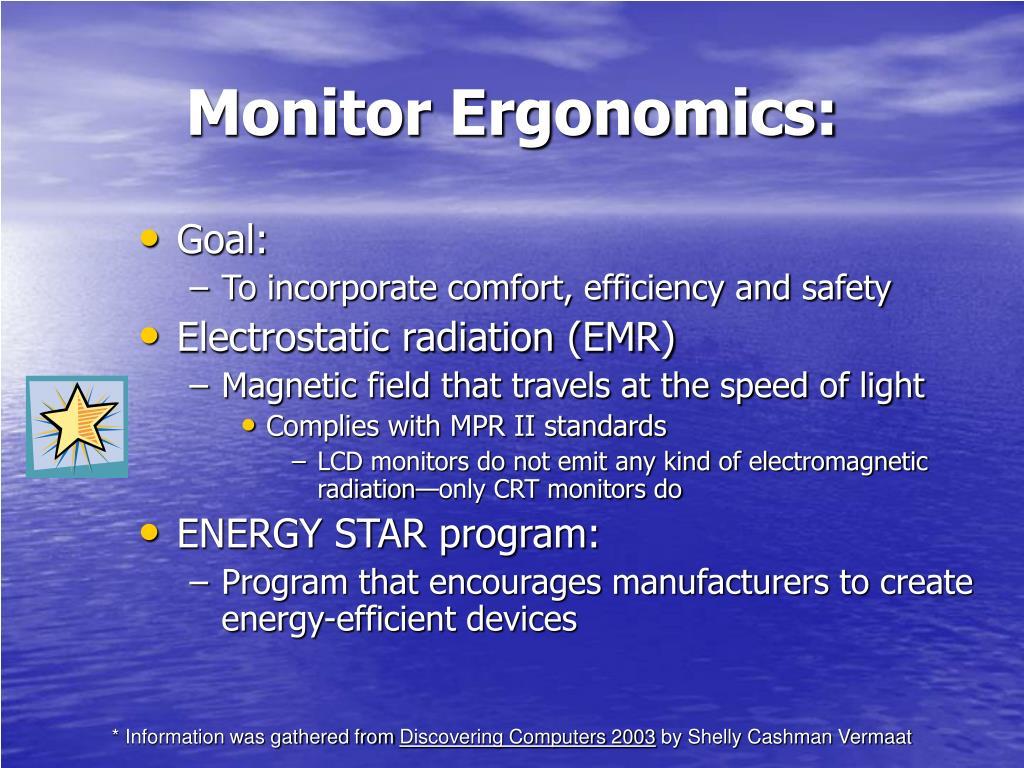 Monitor Ergonomics: