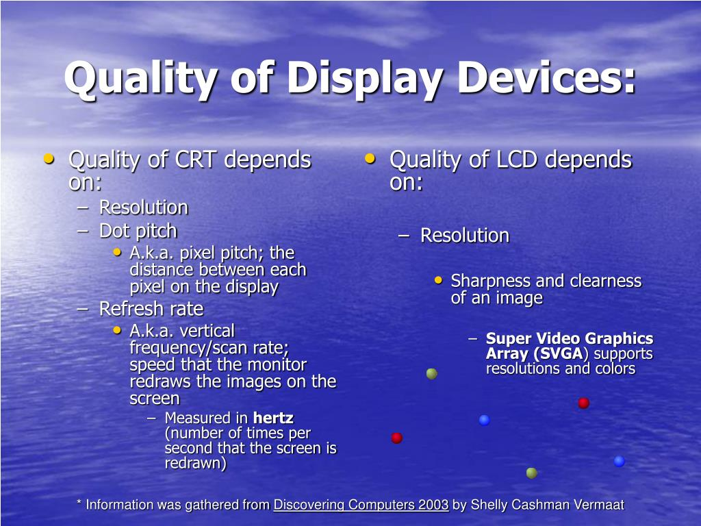 Quality of CRT depends on: