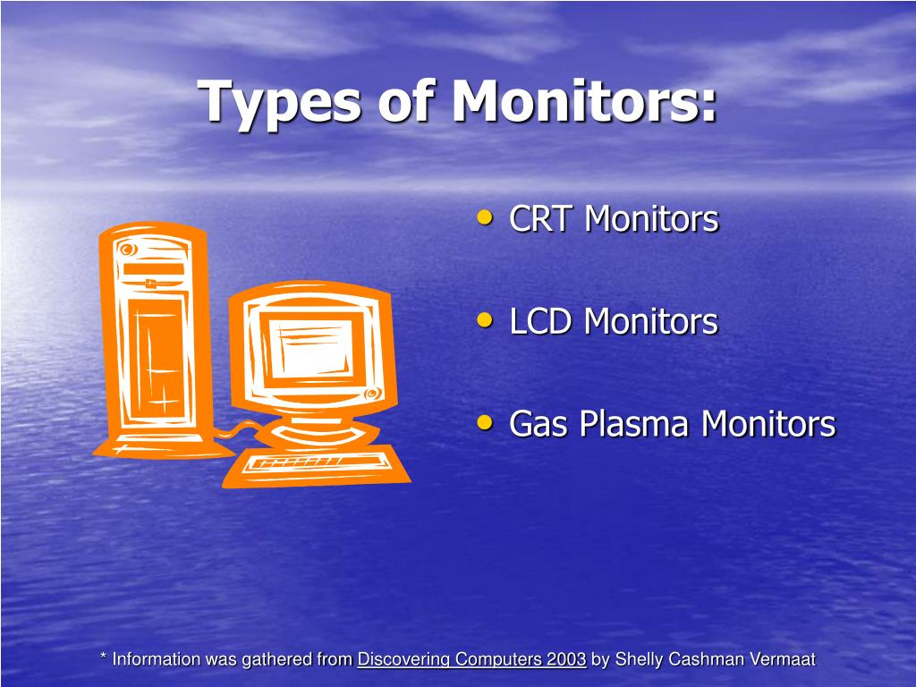 Types of Monitors: