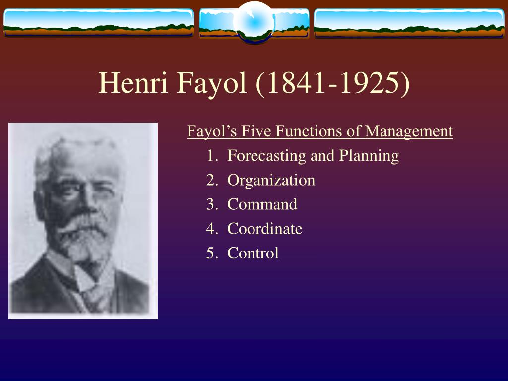 apply henri fayol's five rules of Henri fayol was one of the most influential contributors to modern concepts of management, having proposed that there are five primary functions of management: planning, organizing, commanding, coordinating and controlling.