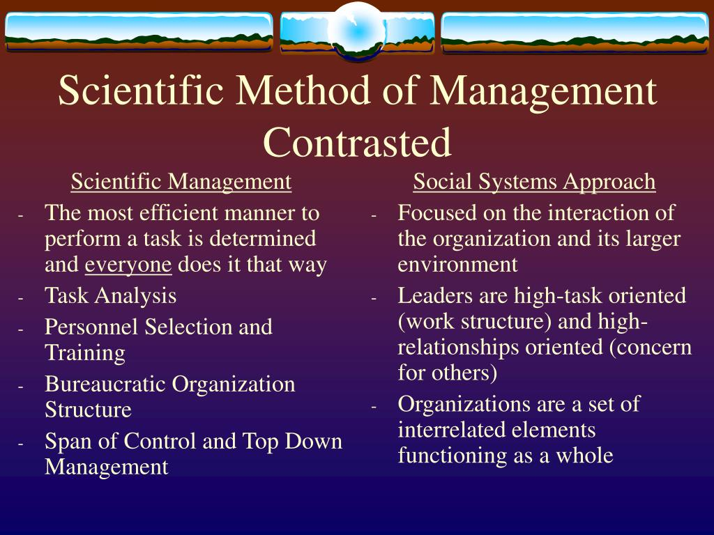 management science method Management as both science and art management is both an art and a science the above mentioned points clearly reveals that management combines features of both.