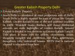 greater kailash property delhi