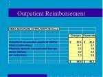 outpatient reimbursement