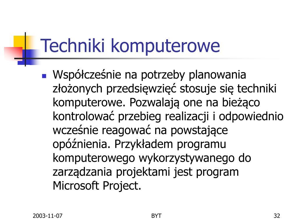 Techniki komputerowe