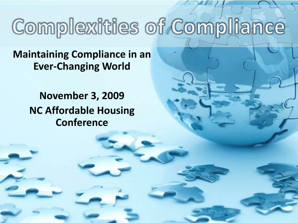 complexities of compliance