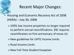 recent major changes3
