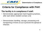 criteria for compliance with f44179
