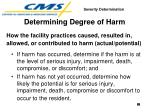 determining degree of harm