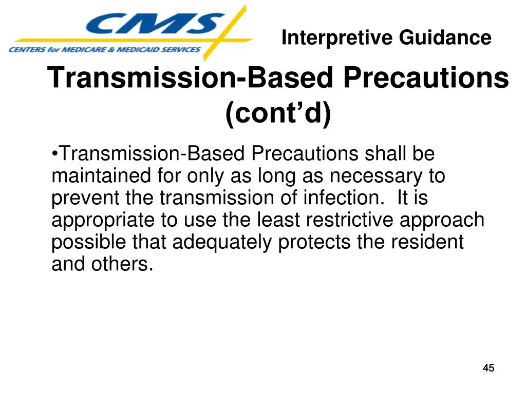 Transmission-Based Precautions (cont'd)