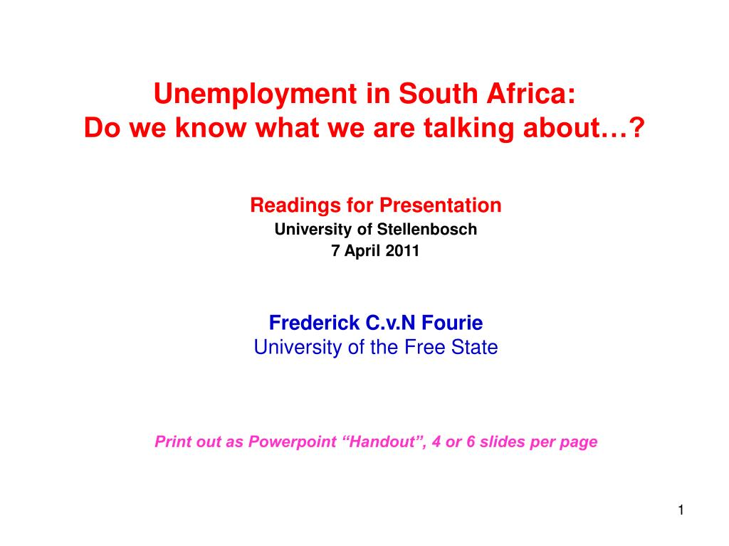 unemployment in south africa do we know what we are talking about