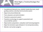 what might a timeline strategic plan include