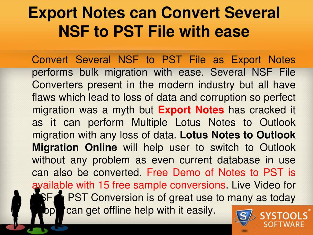 Export Notes can Convert Several NSF to PST File with ease