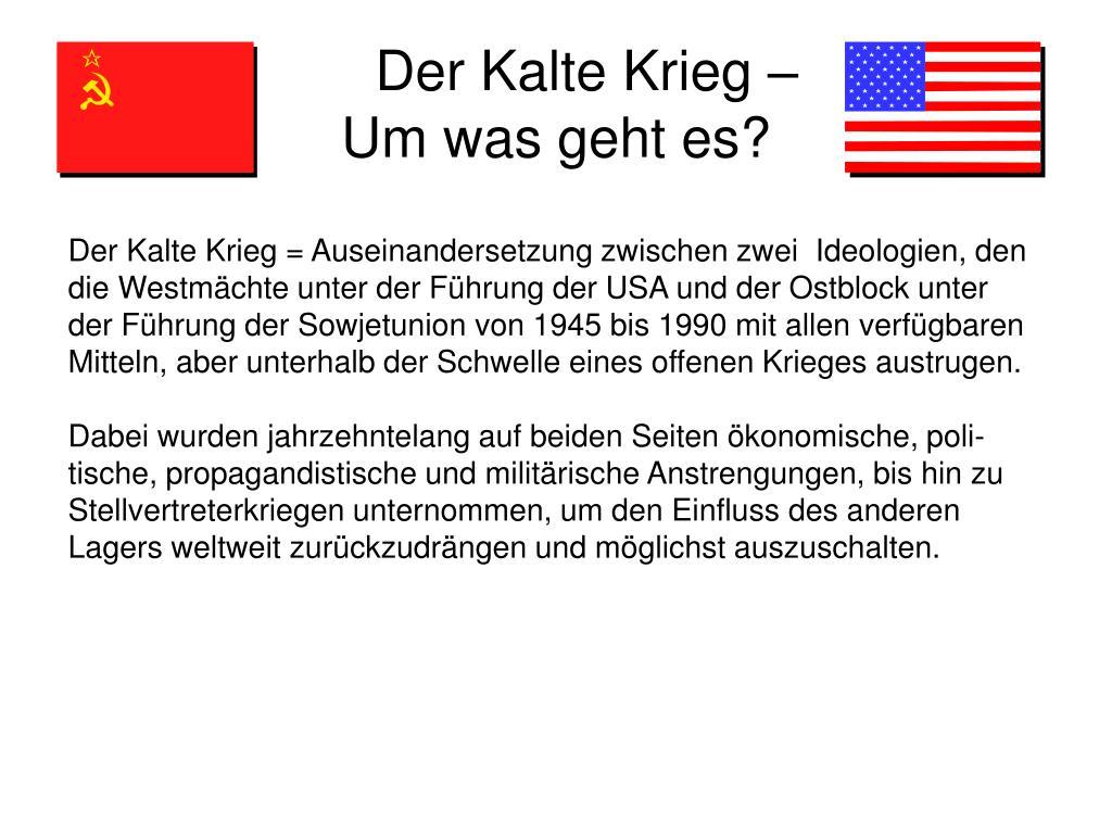 Der Kalte Krieg –