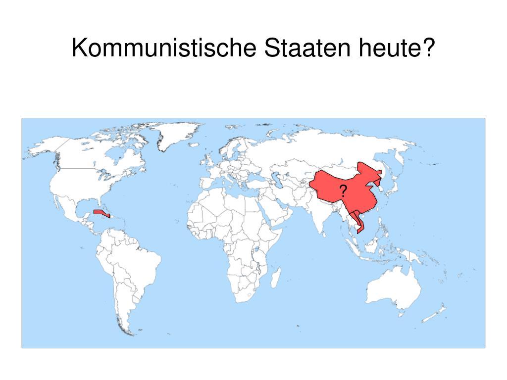 Kommunistische Staaten heute?