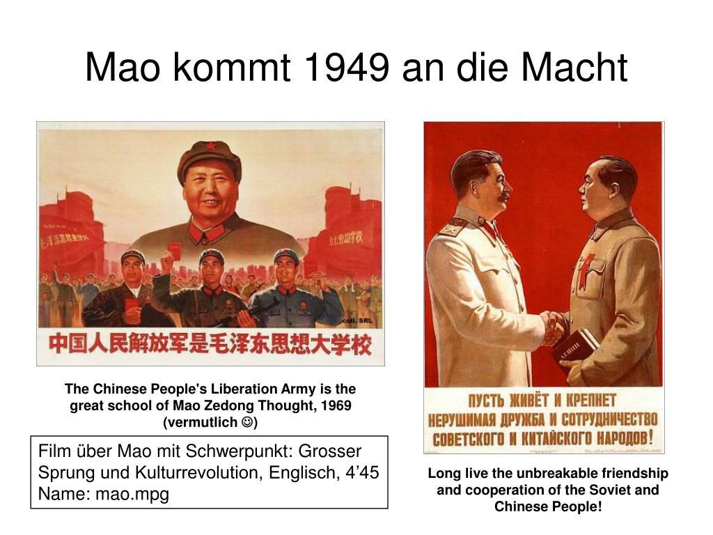 Mao kommt 1949 an die Macht