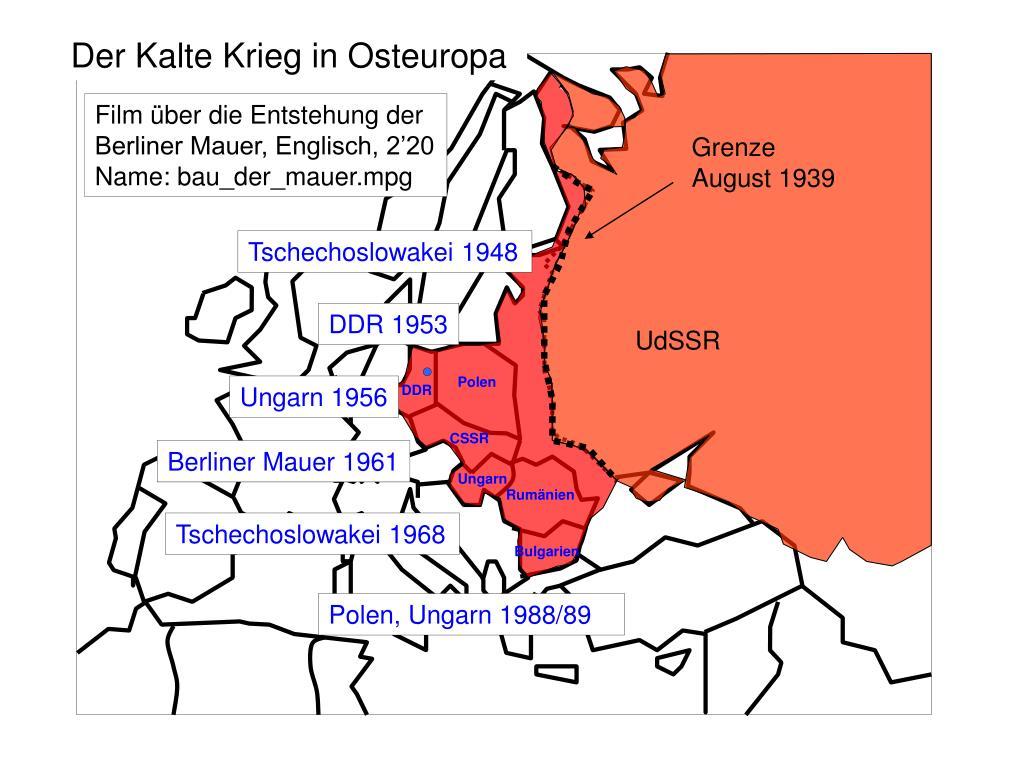 Der Kalte Krieg in Osteuropa