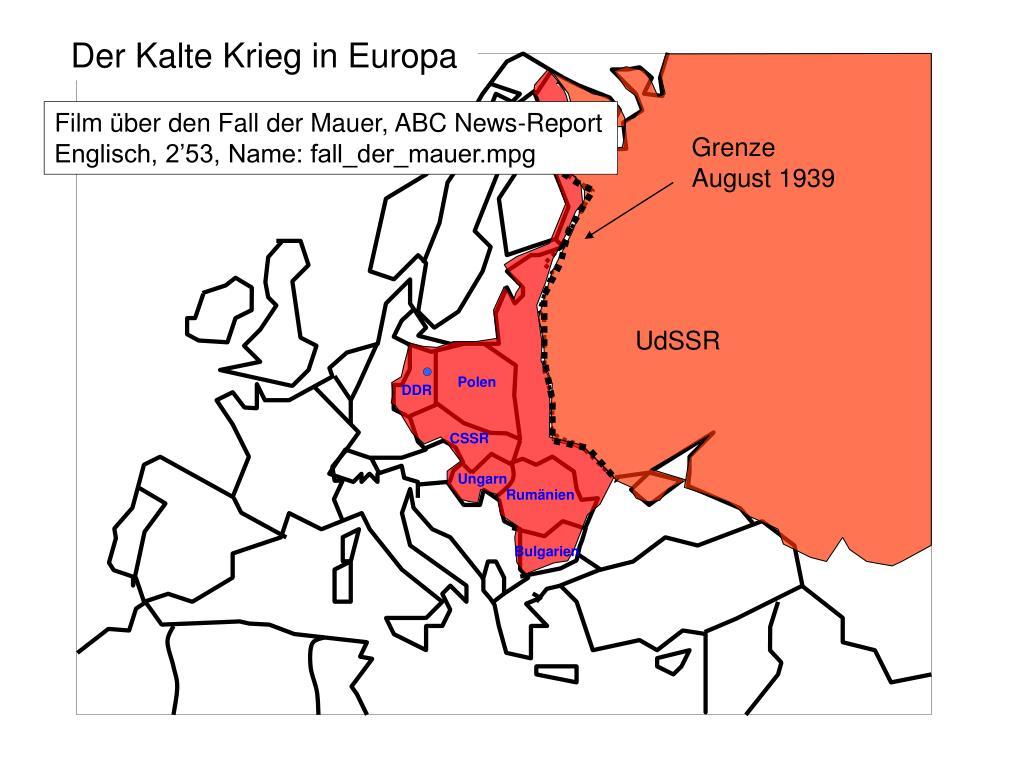 Der Kalte Krieg in Europa