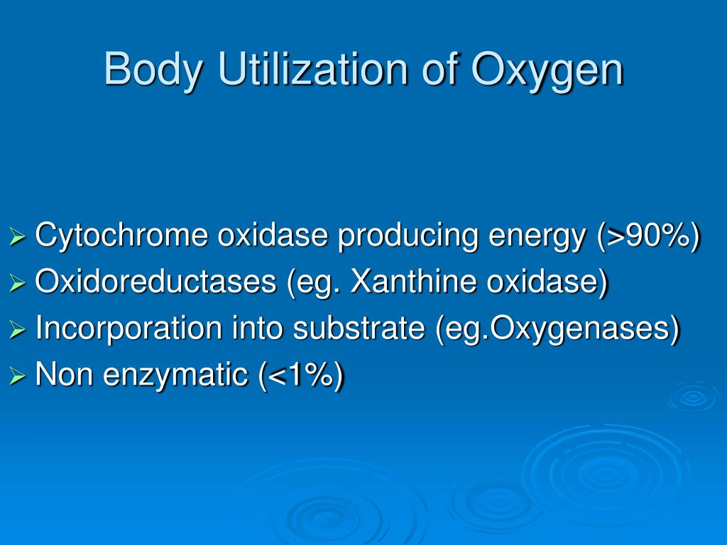 Body Utilization of Oxygen
