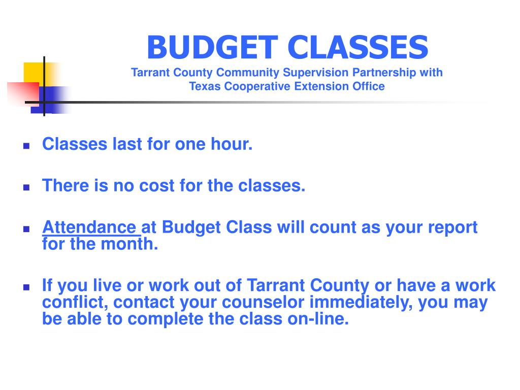 BUDGET CLASSES