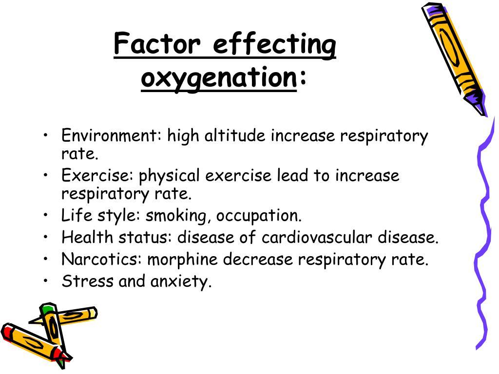 Factor effecting oxygenation