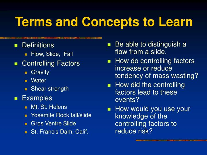 Terms and concepts to learn l.jpg