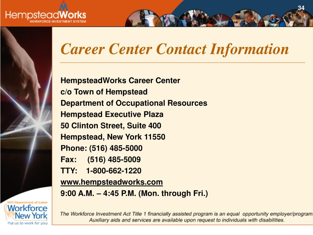 Career Center Contact Information