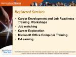 registered services