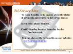 tel service line