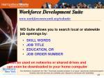 workforce development suite www workforcenewyork org wdsuite