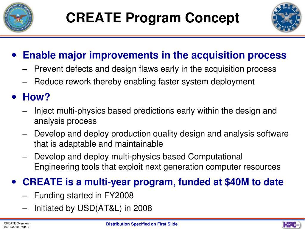 CREATE Program Concept