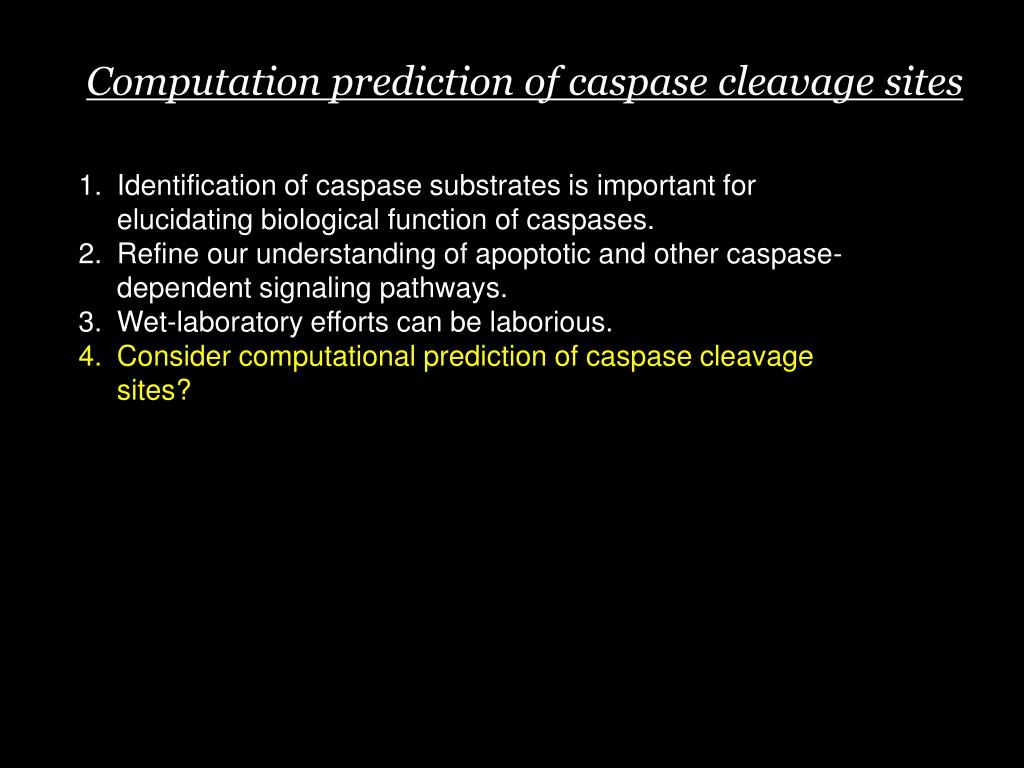 Computation prediction of caspase cleavage sites