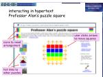 interacting in hypertext professor alan s puzzle square