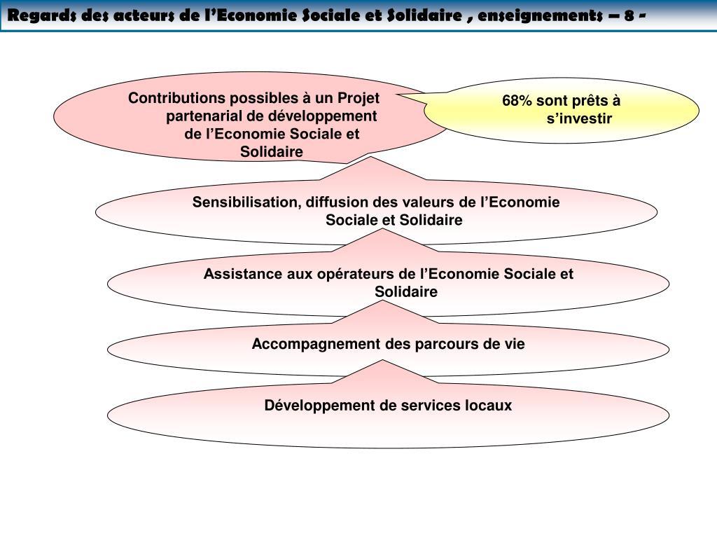 Regards des acteurs de l'Economie Sociale et Solidaire , enseignements – 8 -