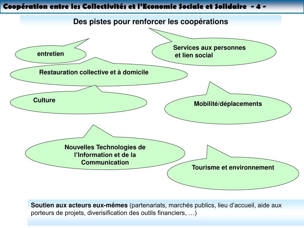 Coopération entre les Collectivités et l'Economie Sociale et Solidaire  - 4 -