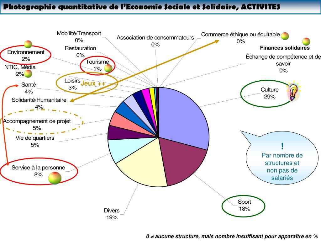 Photographie quantitative de l'Economie Sociale et Solidaire, ACTIVITES