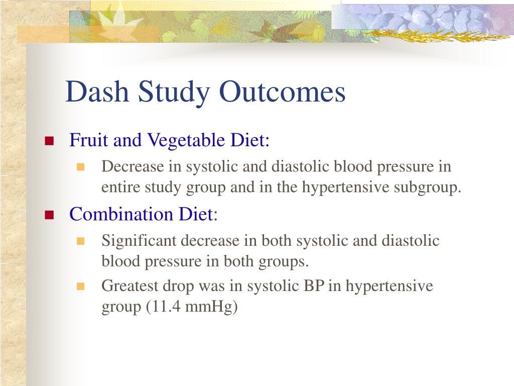 Dash Study Outcomes