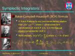 symplectic integrators i