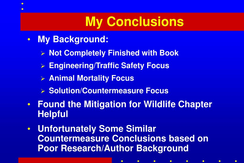 My Conclusions